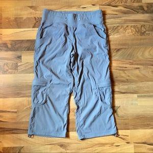 LULULEMON Yoga Camp Crop Capri Pants Gray Fossil 4